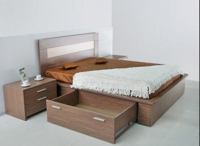 Double Beds With Storage Boxes